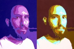 Double Bearded Scott / 2009 / Color-aid paper / 9x6""